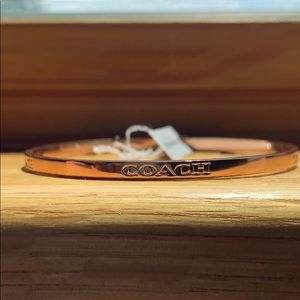 Coach open circle gold bracelet